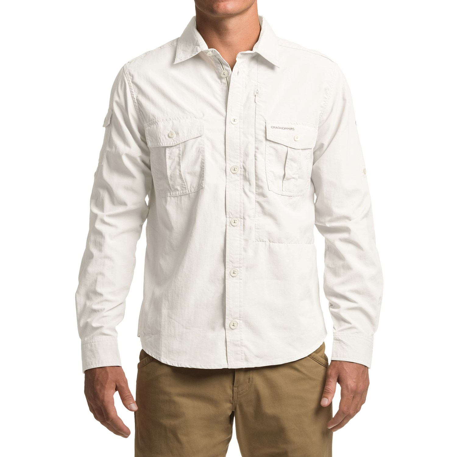 Craghoppers nosilife button down shirt for men save 71 for Men s upf long sleeve shirt