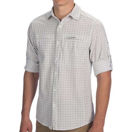 Craghoppers NosiLife Check Shirt - UPF 40+, Long Roll-Up Sleeve (For Men) in Granite Comb