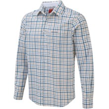 Craghoppers NosiLife Check Shirt - UPF 40+, Roll-Up Long Sleeve (For Men) in Pool Blue Combo - Closeouts