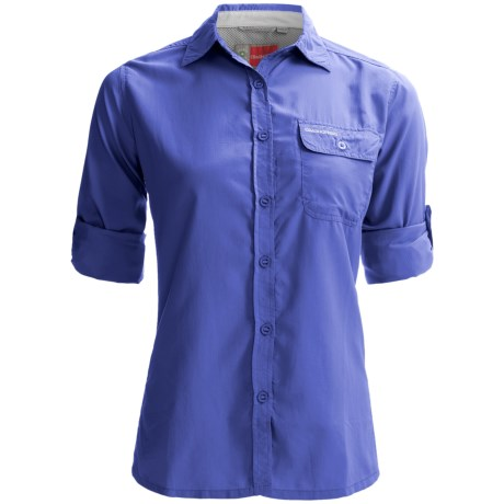 Craghoppers NosiLife Darla II Shirt - UPF 40+, Long Sleeve (For Women) in Blue Violet