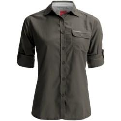 Craghoppers NosiLife Darla II Shirt - UPF 40+, Long Sleeve (For Women) in Mid Khaki