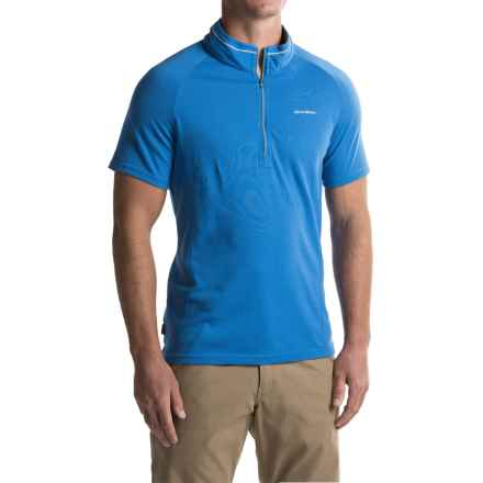 Craghoppers NosiLife® Felix Shirt - Zip Neck, Short Sleeve(For Men) in Sport Blue - Closeouts