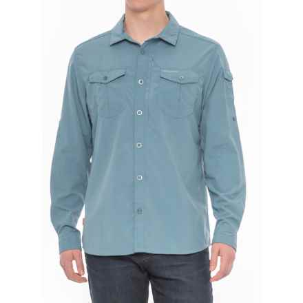 Craghoppers NosiLife® Insect Shield® Advanced Shirt - UPF 50+, Long Sleeve (For Men) in Smoke Blue - Closeouts