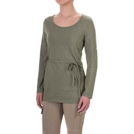 Craghoppers NosiLife® Insect Shield® Bailly Tunic Shirt - Long Sleeve (For Women) in Soft Moss Marl - Closeouts