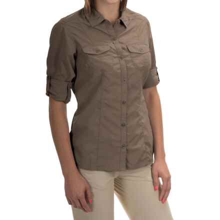 Craghoppers NosiLife Insect Shield® Darla Shirt - UPF 40+, Long Sleeve (For Women) in Mushroom - Closeouts