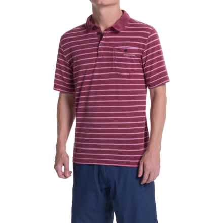 Craghoppers NosiLife Insect Shield® Gilles Polo Shirt - Short Sleeve (For Men) in Brick Calico - Closeouts