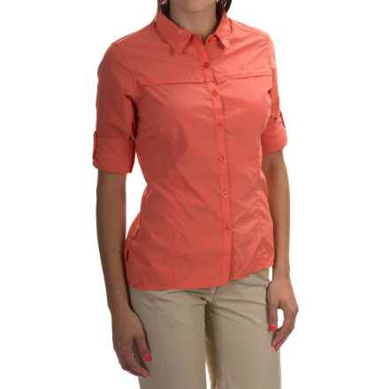 Craghoppers NosiLife Insect Shield® Pro Lite Shirt - Button Front, Long Sleeve (For Women) in Sunset - Closeouts