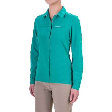 Craghoppers NosiLife® Insect Shield® Pro Shirt - UPF 50+, Long Sleeve (For Women) in Bright Turquoise - Closeouts