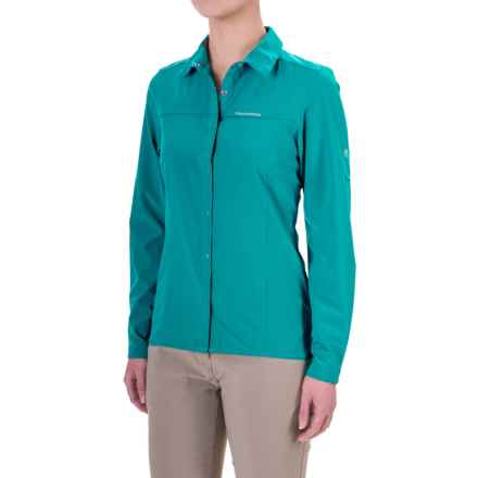 Craghoppers NosiLife® Insect Shield® Pro Shirt - UPF 50+, Long Sleeve (For Women) in Lagoon - Closeouts