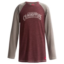 Craghoppers NosiLife Shamri T-Shirt - UPF 40+, Long Sleeve (For Little and Big Boys) in Port Red Marl - Closeouts