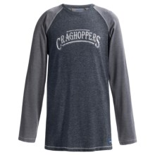 Craghoppers NosiLife Shamri T-Shirt - UPF 40+, Long Sleeve (For Little and Big Boys) in Windsor Blue Marl - Closeouts