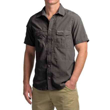 Craghoppers NosiLife® Shirt - UPF 40+, Short Sleeve (For Men) in Black Pepper - Closeouts