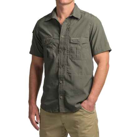 Craghoppers NosiLife® Shirt - UPF 40+, Short Sleeve (For Men) in Dark Khaki - Closeouts