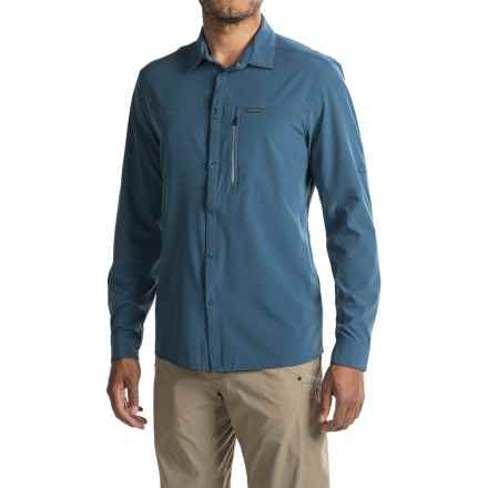 Craghoppers NosiLife® Shirt - UPF 40+, Snap Front, Long Sleeve (For Men) in Faded Indigo - Closeouts
