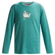 Craghoppers NosiLife Sirena T-Shirt - UPF 40+, Long Sleeve (For Little and Big Kids) in Turquoise Blue Marl - Closeouts