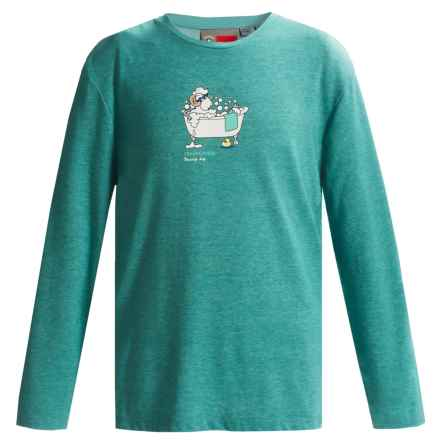 Craghoppers NosiLife® Sirena T-Shirt - UPF 40+, Long Sleeve (For Little and Big Kids) in Turquoise Blue Marl - Closeouts