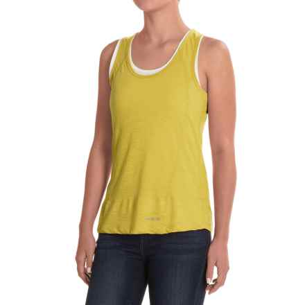 Craghoppers Pro Lite 2-Layer Wash and Wear Tank Top (For Women) in Spring Yellow/Optic White - Closeouts