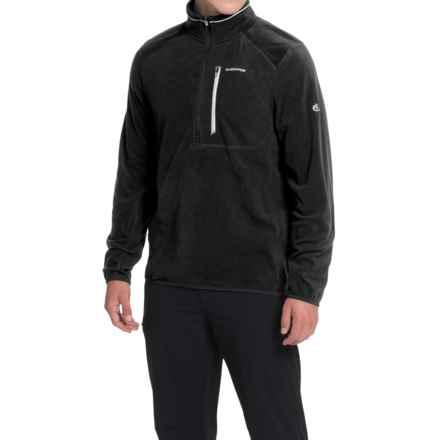 Craghoppers Pro Lite Fleece Shirt - Zip Neck, Long Sleeve (For Men) in Black - Closeouts