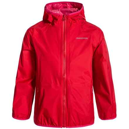 Craghoppers ProLite Hooded Rain Jacket - Waterproof (For Little and Big Kids) in Fiesta Red - Closeouts