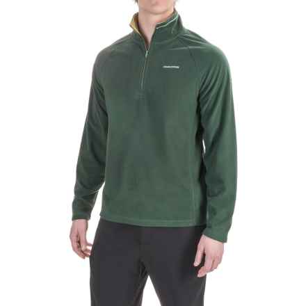Craghoppers Selby Microfleece Shirt - Zip Neck, Long Sleeve (For Men) in Asteroid Green - Closeouts
