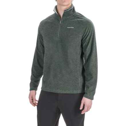 Craghoppers Selby Microfleece Shirt - Zip Neck, Long Sleeve (For Men) in Black Pepper Marl - Closeouts