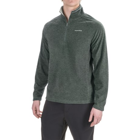 Craghoppers Selby Microfleece Shirt - Zip Neck, Long Sleeve (For Men) in Black Pepper Marl