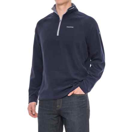 Craghoppers Selby Microfleece Shirt - Zip Neck, Long Sleeve (For Men) in Dark Navy - Closeouts