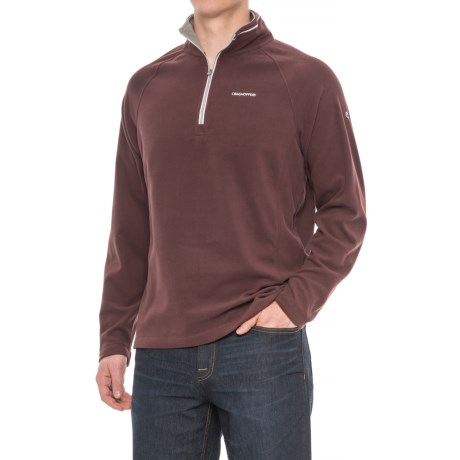 Craghoppers Selby Microfleece Shirt - Zip Neck, Long Sleeve (For Men) in Red Wine