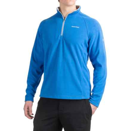 Craghoppers Selby Microfleece Shirt - Zip Neck, Long Sleeve (For Men) in Sport Blue - Closeouts