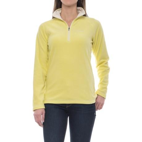 Craghoppers Seline Microfleece Shirt - Zip Neck, Long Sleeve (For Women) in Citronella