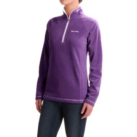 Craghoppers Seline Microfleece Shirt - Zip Neck, Long Sleeve (For Women) in Dark Plum - Closeouts
