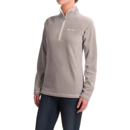 Craghoppers Seline Microfleece Shirt - Zip Neck, Long Sleeve (For Women) in Quarry Grey Marl - Closeouts