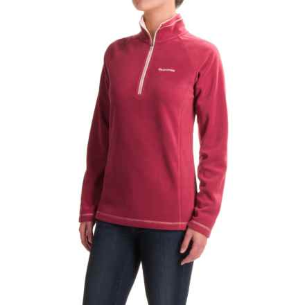 Craghoppers Seline Microfleece Shirt - Zip Neck, Long Sleeve (For Women) in Rosehip Pink - Closeouts