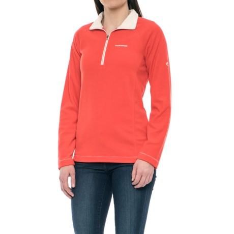 Craghoppers Seline Microfleece Shirt - Zip Neck, Long Sleeve (For Women) in Venetian Red