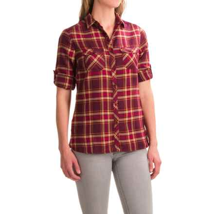 Craghoppers Valemont Flannel Shirt - Long Sleeve (For Women) in Dark Rioja Red Combo - Closeouts