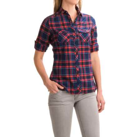 Craghoppers Valemont Flannel Shirt - Long Sleeve (For Women) in Night Blue Combo - Closeouts