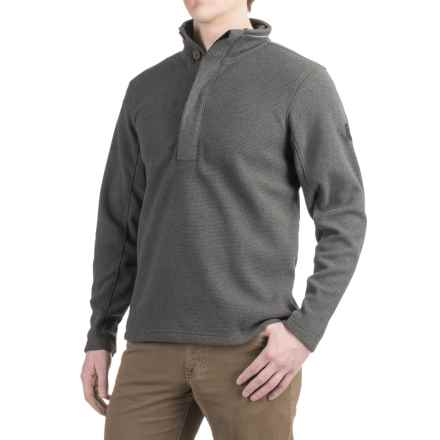 Craghoppers Weston Fleece Shirt - Button Neck, Long Sleeve (For Men) in Black Pepper Marl - Closeouts
