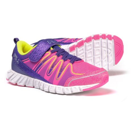 Image of Crater 4 Strap Glitter Running Shoes (For Little and Big Girls)