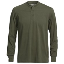 CRC Sport Henley Shirt - Long Sleeve (For Men) in Green - Closeouts