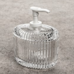 Creative Bath Clear Acrylic Lotion Dispenser in Reflections