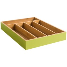 Creative Home Bamboo Cutlery Storage Tray in Green - Closeouts