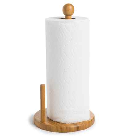 Creative Home Bamboo Paper Towel Holder in Bamboo - Closeouts