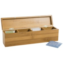 Creative Home Bamboo Tea Bag Box in See Photo - Closeouts