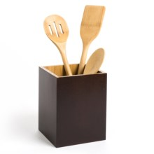 "Creative Home Bamboo Utensil Container - 5x5"" in Espresso - Closeouts"
