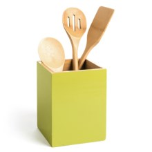 "Creative Home Bamboo Utensil Container - 5x5"" in Green - Closeouts"
