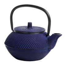 Creative Home Cast Iron Tea Kettle - 10 fl.oz. in Blue - Closeouts
