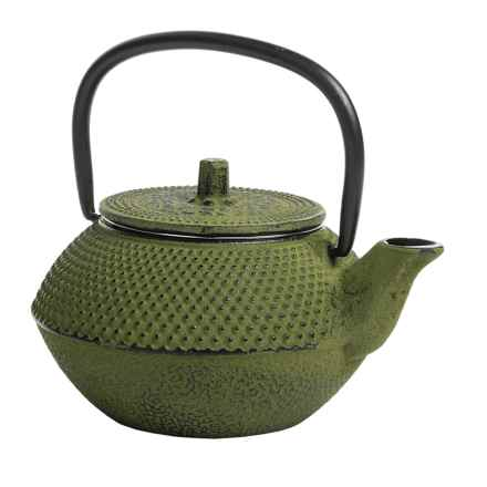 Creative Home Cast Iron Tea Kettle - 10 fl.oz. in Green - Closeouts