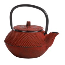 Creative Home Cast Iron Tea Kettle - 10 fl.oz. in Red - Closeouts