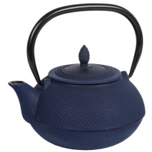 Creative Home Cast Iron Tea Pot with Infuser Basket - 30 oz. in Blue - Closeouts