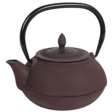 Creative Home Cast Iron Tea Pot with Infuser Basket - 30 oz. in Brown - Closeouts